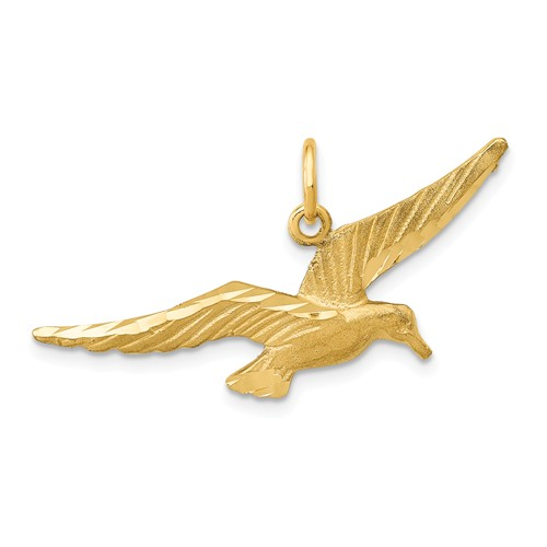 14k Yellow Gold Seagull Pendant