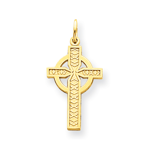 14k 15/16in Celtic Cross Pendant