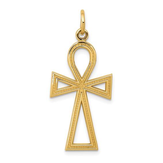 14kt 15/16in Ankh Cross Charm