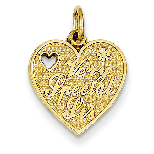 14kt Yellow Gold Very Special Sister Charm