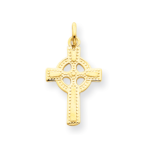 14kt Yellow Gold 7/8in Celtic Cross