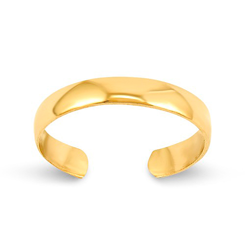 14kt Yellow Gold Polished 3mm Toe Ring