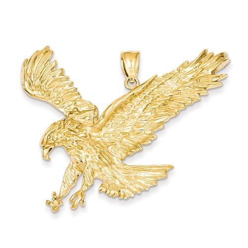 14kt Yellow Gold 1 1/2in Jumbo Eagle Pendant