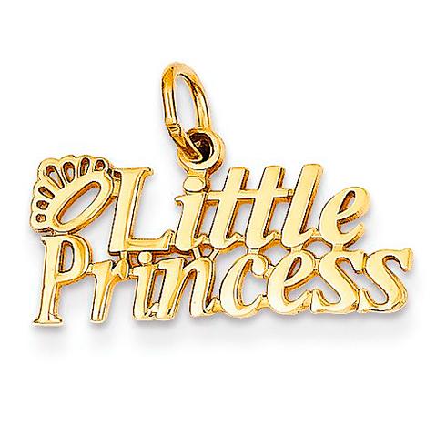 14kt Yellow Gold Little Princess Charm