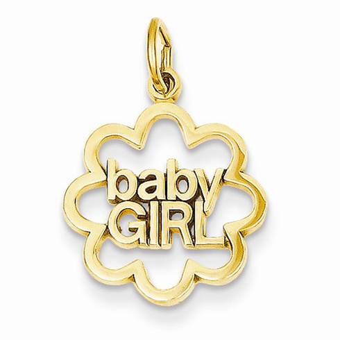 14kt Yellow Gold Baby Girl Charm