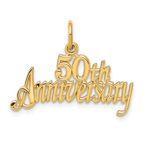14kt Yellow Gold 50th Anniversary Charm