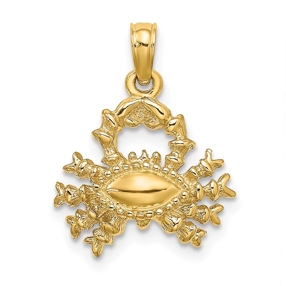 14kt Yellow Gold 3-D Cancer Charm