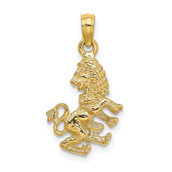 14kt Yellow Gold 3-D Leo Charm