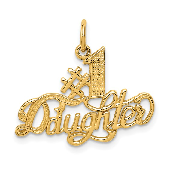 14kt Yellow Gold #1 Daughter Charm