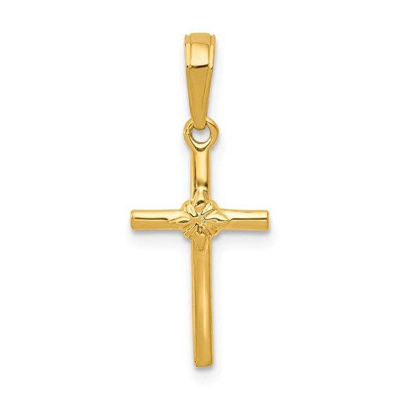 14kt 5/8in Polished Cross Charm