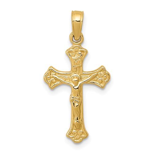 14kt 3/4in INRI Crucifix Charm