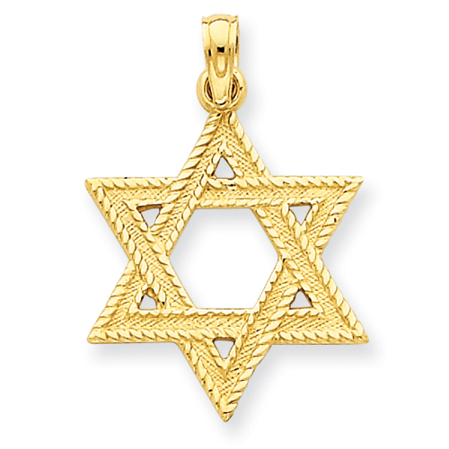 14k 3/4in Star of David Pendant