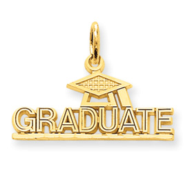14kt Yellow Gold 7/8in Graduate Charm