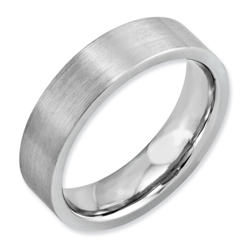 Cobalt 6mm Flat Satin Wedding Band