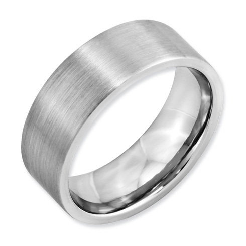 Cobalt 8mm Flat Satin Wedding Band