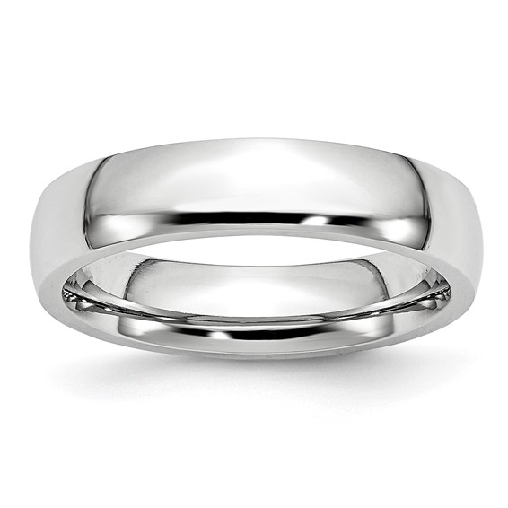 Cobalt 5mm Domed Polished Wedding Band