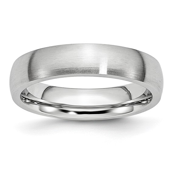 Cobalt 5mm Domed Satin Wedding Band