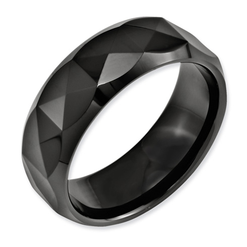 Ceramic 8mm Ring with Facets
