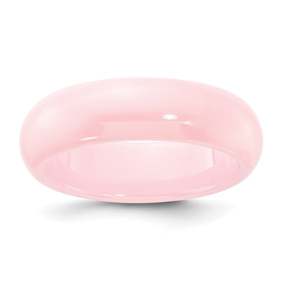 Pink Ceramic 5.5mm Domed Ring