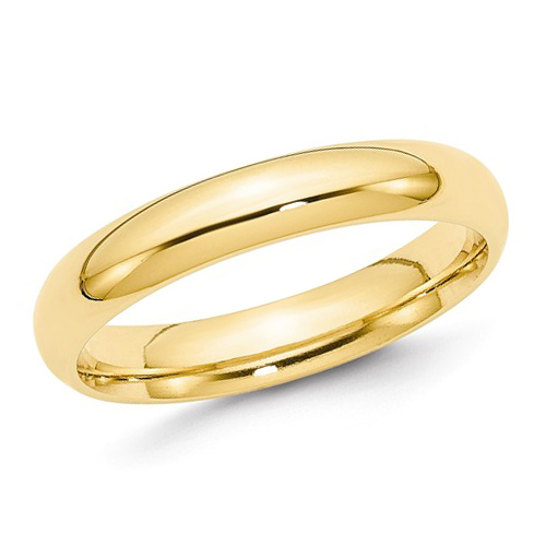 14kt Yellow Gold 4mm Comfort Fit Polished Wedding Band