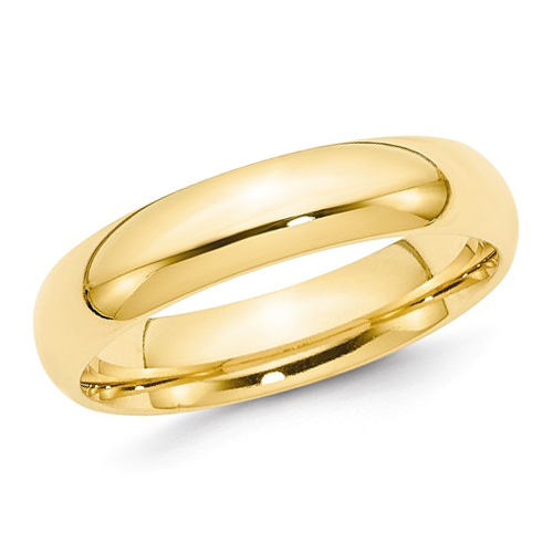 14kt Yellow Gold 5mm Comfort Fit Polished Wedding Band