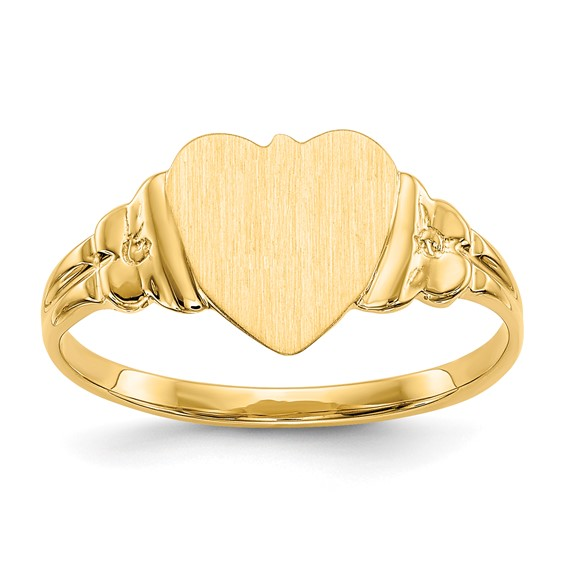 14kt Yellow Gold Signet Heart Ring