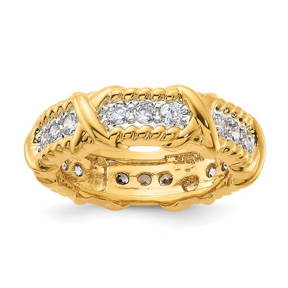 Jacqueline Kennedy Vermeil Unity Ring