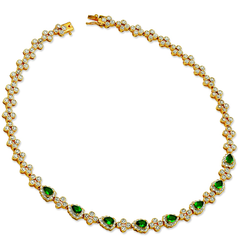 Jackie's First Lady Necklace with Green Swarovski Crystals