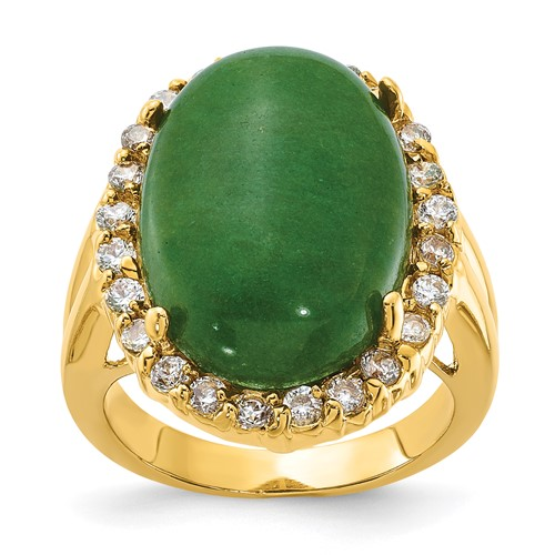Jacqueline Kennedy Opaque Aventurine Ring