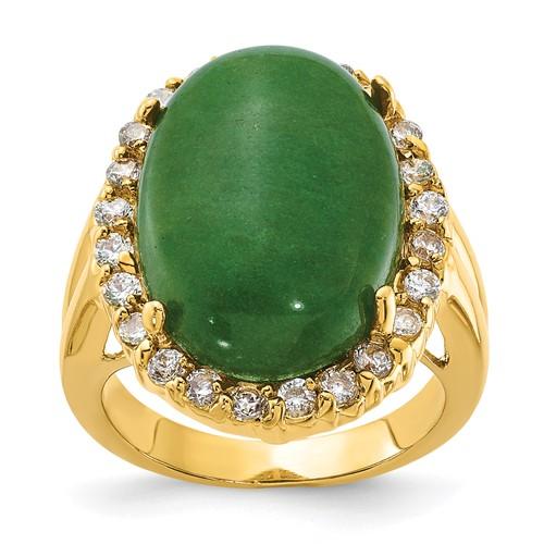 Jacqueline Kennedy Opaque Aventurine Ring