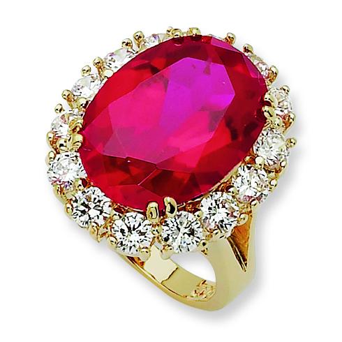 Jacqueline Kennedy's Ruby Swarovski Ring