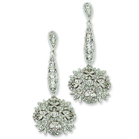 Jacqueline Kennedy Winter Crystal Earrings