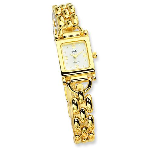 Jacqueline Kennedy Gold Tone 7.75in Bracelet Watch