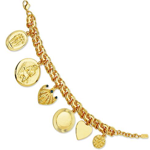 Jacqueline Kennedy 7in Charm Bracelet