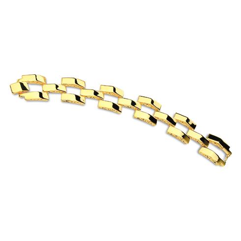 Jacqueline Kennedy Pyramid Polished 7 1/2in Bracelet