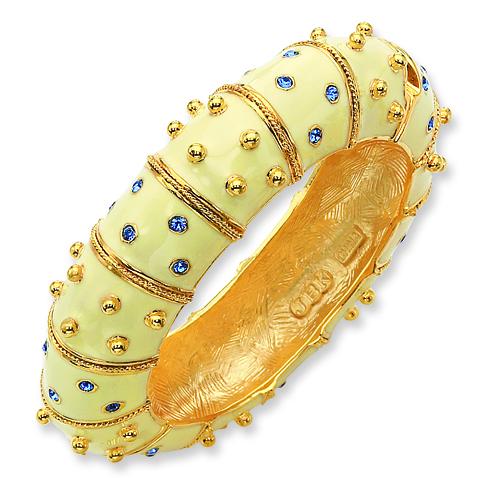 Jacqueline Kennedy 8in Ivory Enamel Bracelet