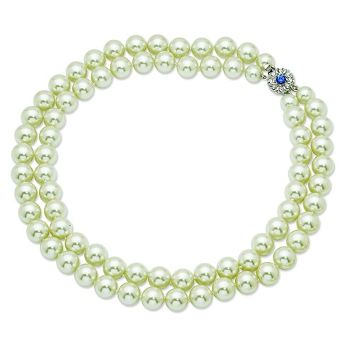 Jacqueline Kennedy Double Strand Simulated Pearl 18in Necklace