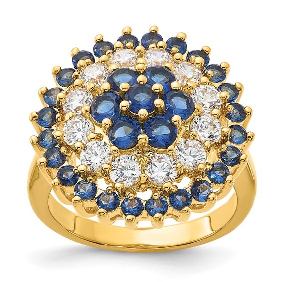 Jacqueline Kennedy Gold-plated Swarovski Crystal Bullseye Ring