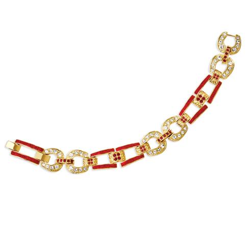 Jacqueline Kennedy 6 3/4in Equestrian Link Bracelet