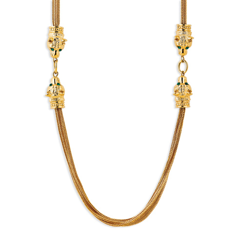 Jacqueline Kennedy Gold-plated Swarovski Crystal Lion Head Necklace