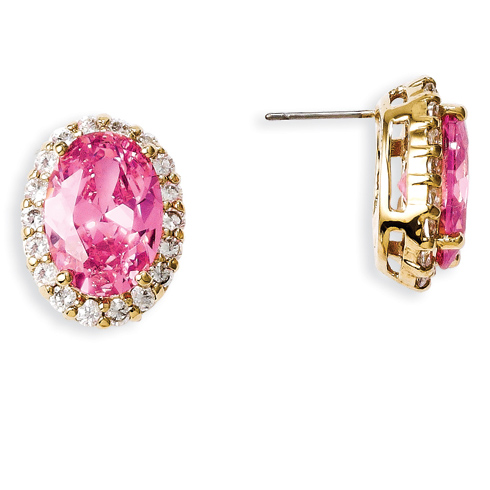 Jacqueline Kennedy Simulated Kunzite Earrings