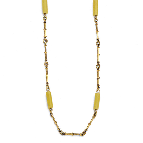 Jacqueline Kennedy 18kt Gold-Plated Long Agate 36in Necklace