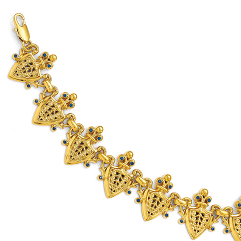 Jacqueline Kennedy French Herald 7in Bracelet