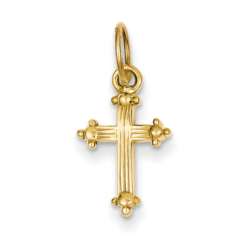 14kt Yellow Gold 9/16in Small Cross Charm