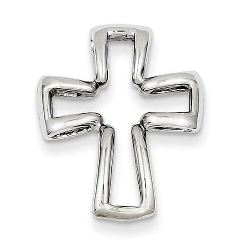 14kt White Gold 13/16in Cross Pendant