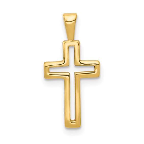 14kt 1/2in Cross Charm
