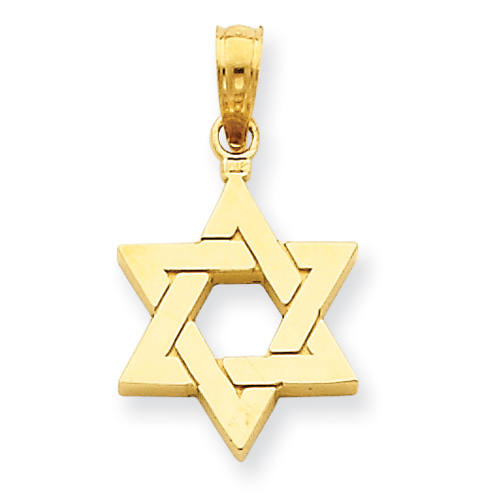 14k 9/16in Polished Star of David Pendant