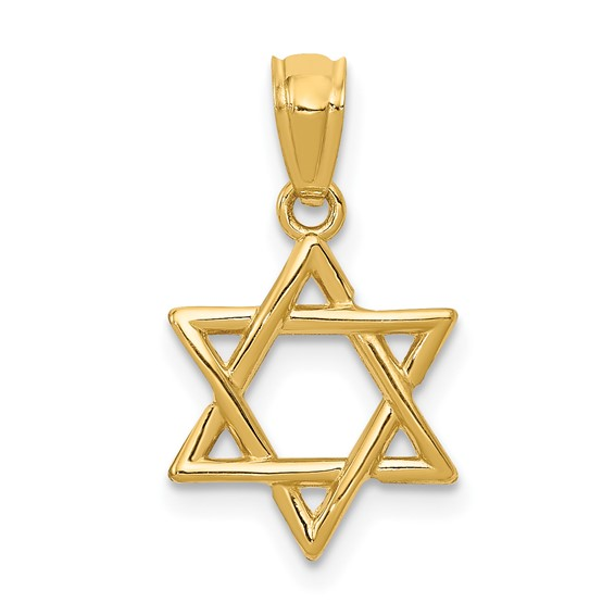 14kt Yellow Gold 1/2in Star of David Charm