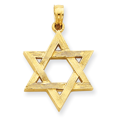 14k 13/16in Polished Star of David Pendant