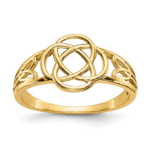 14kt Yellow Gold Celtic Knot Ring